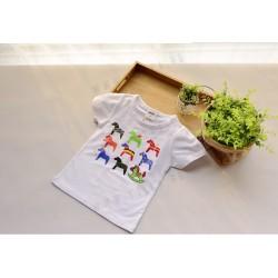 Tricou cu imprimeu caluti baieti