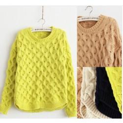 Pulover tricotat fete