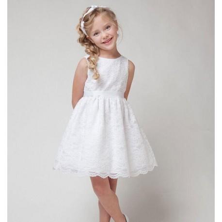 Rochie din dantela alba copii