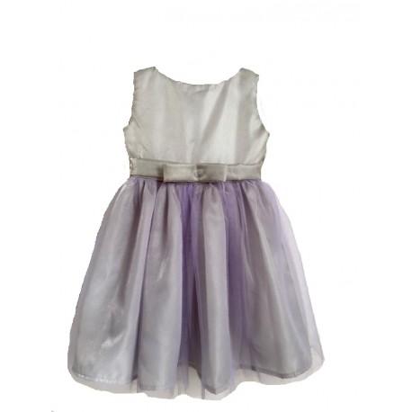 Rochie pentru fete, din tulle, 7 ani, gri