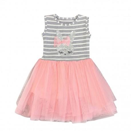 Rochie din bumbac, pentru fete, 5 ani, roz